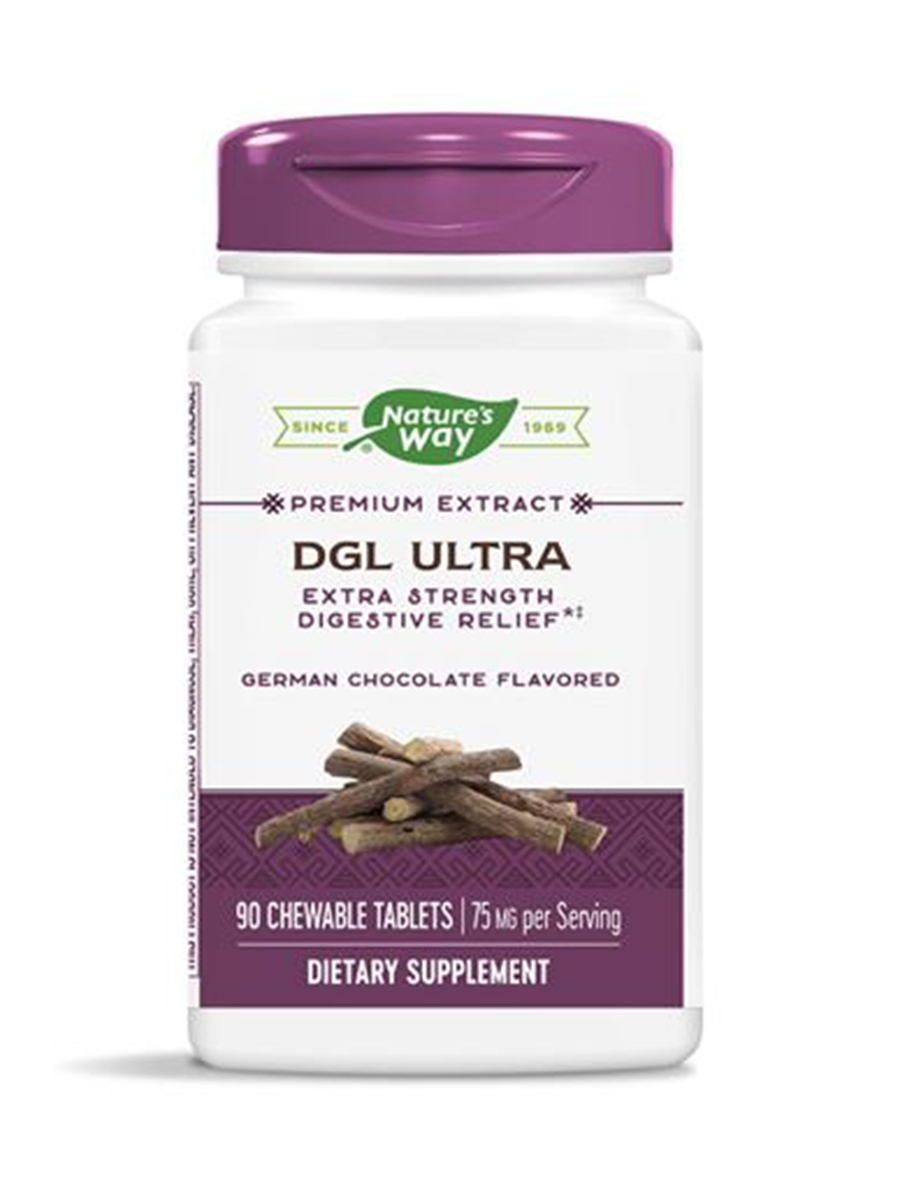 DGL Ultra, German Chocolate Flavored - 90 Chewable Tablets