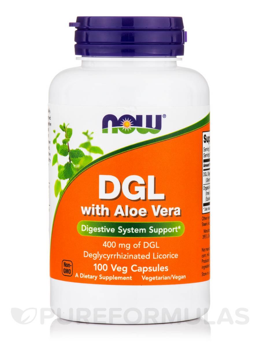 DGL with Aloe Vera - 100 Veg Capsules