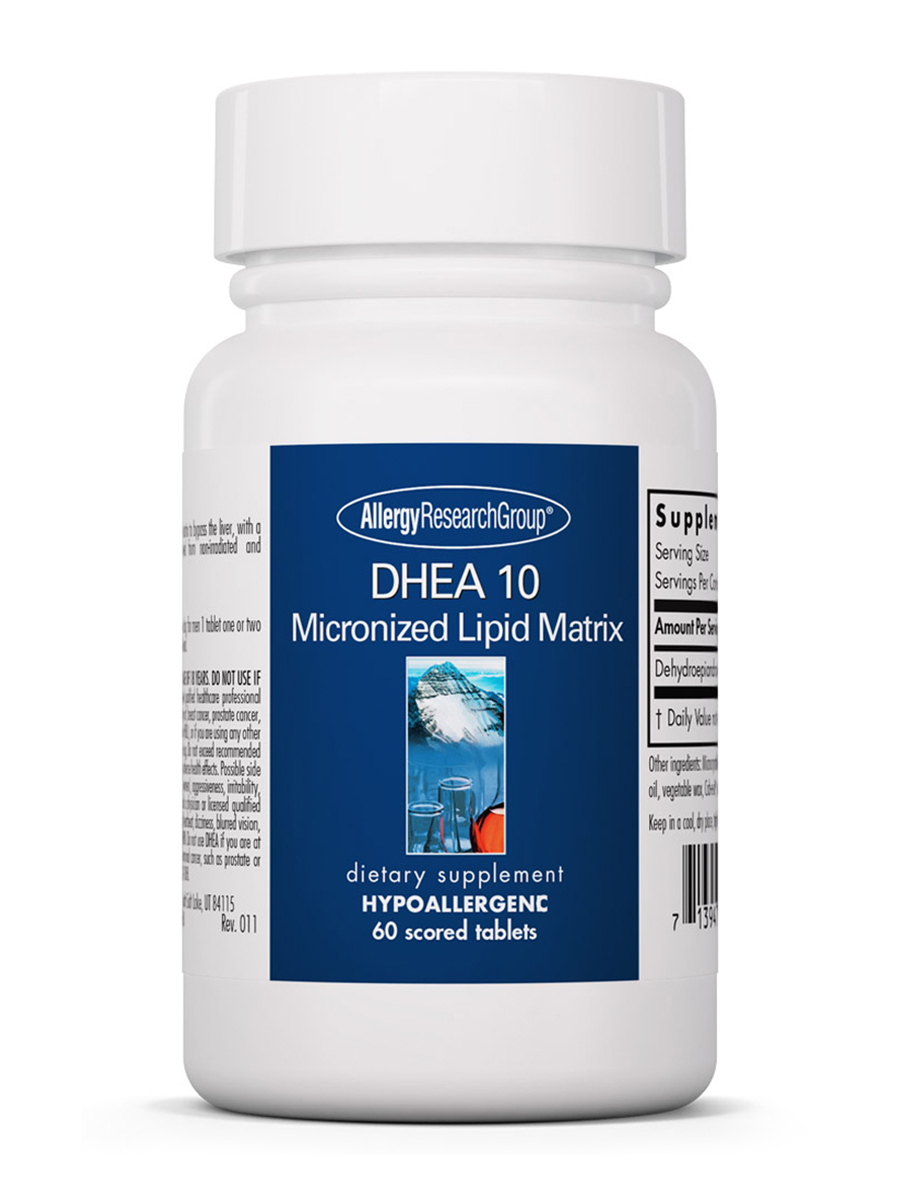 DHEA 10 Micronized Lipid Matrix - 60 Scored Tablets