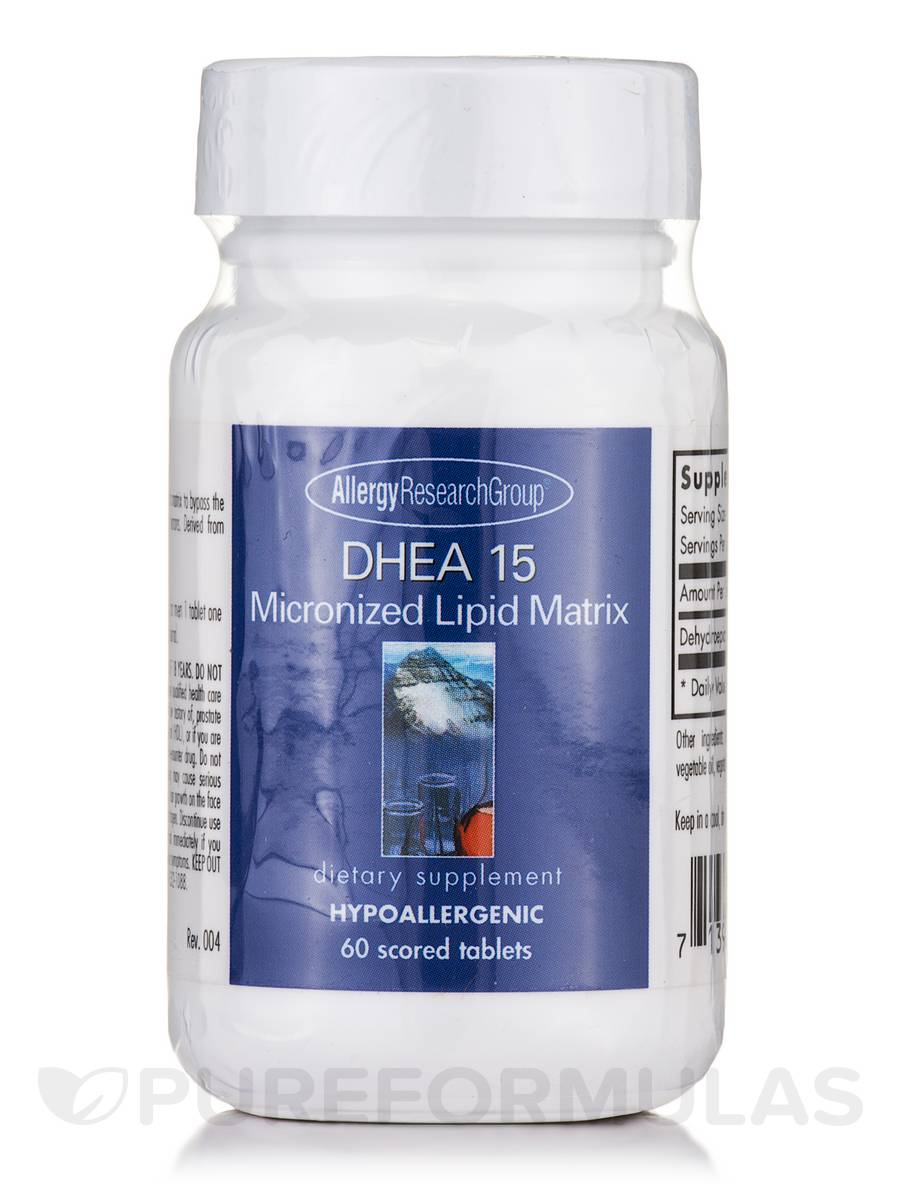 DHEA 15 Micronized Lipid Matrix - 60 Scored Tablets