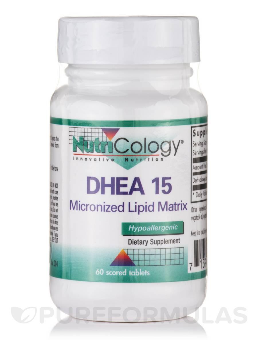DHEA 15 mg Micronized Lipid Matrix - 60 scored tablets