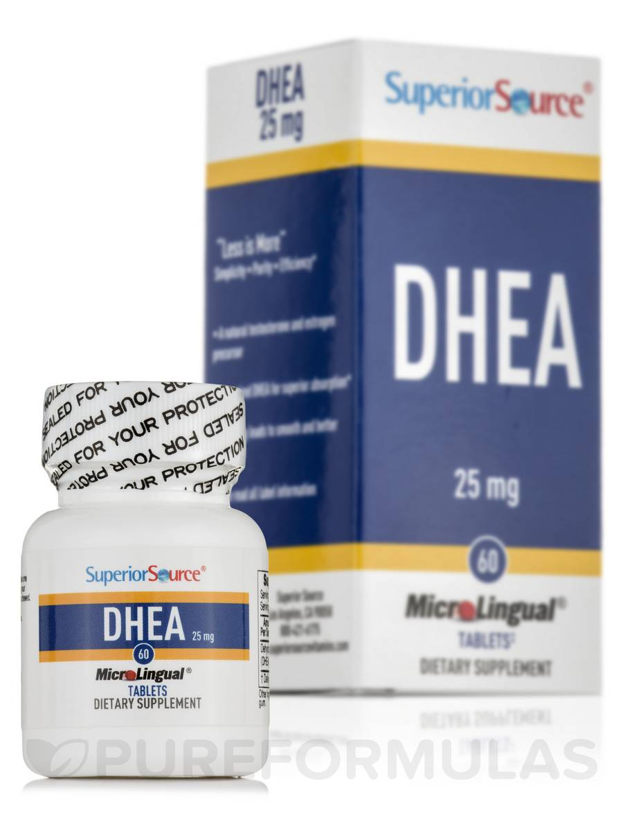 DHEA 25 mg - 60 MicroLingual® Tablets