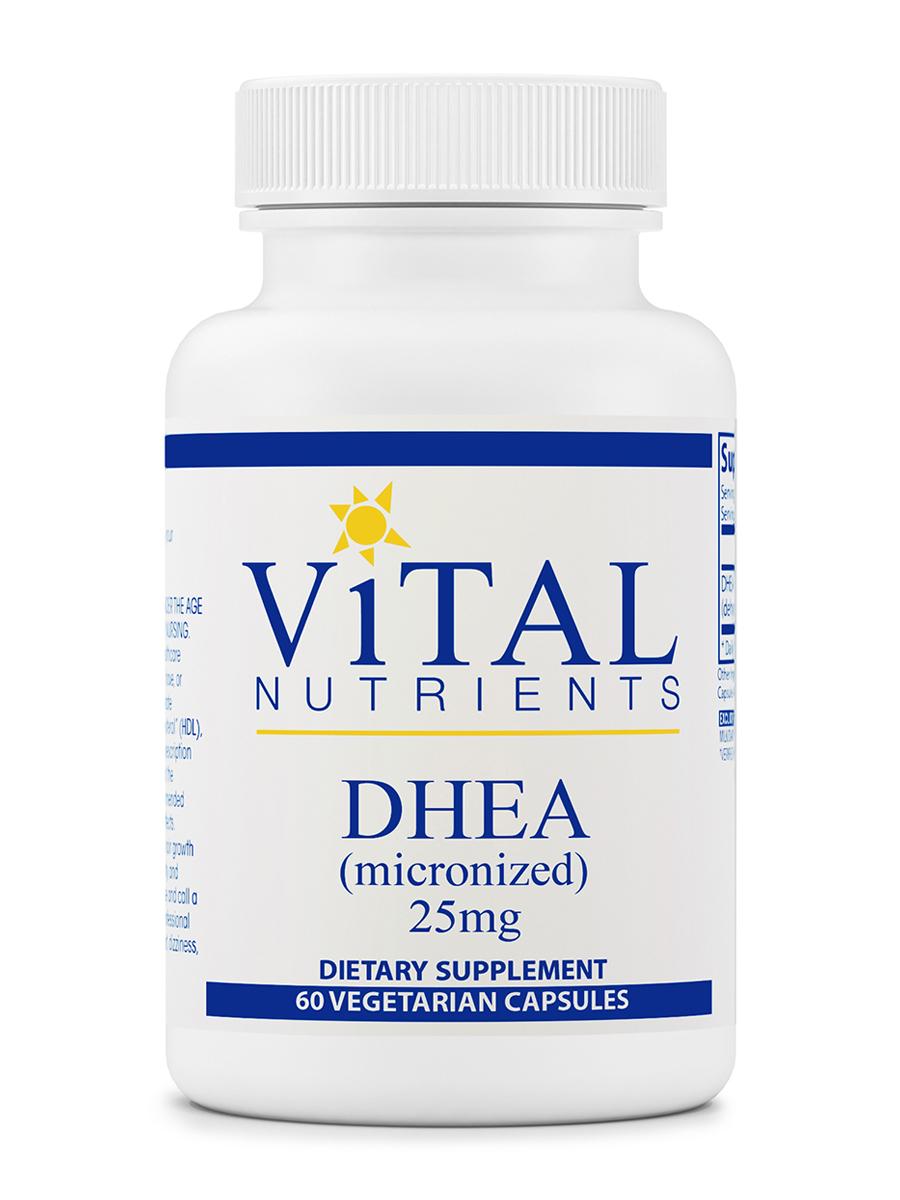 DHEA (micronized) 25 mg - 60 Vegetarian Capsules