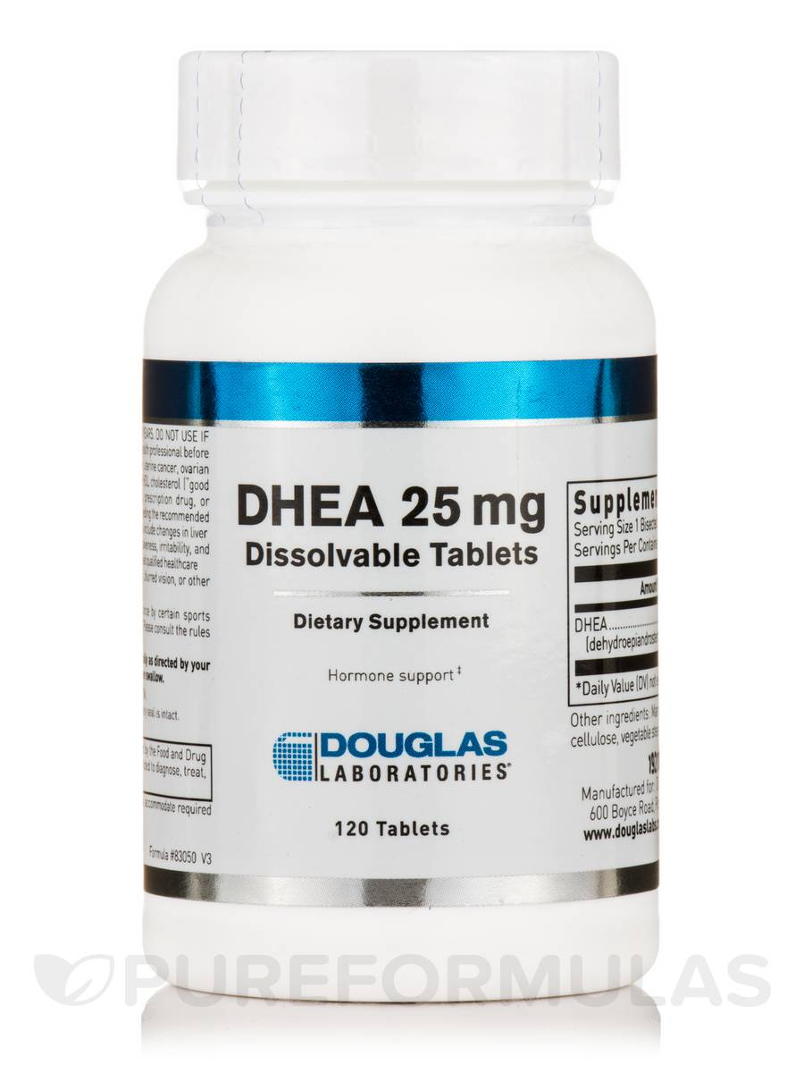 DHEA 25 mg Micronized - 120 Tablets