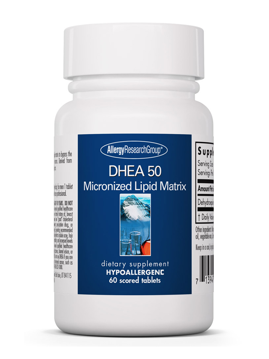 DHEA 50 mg Micronized Lipid Matrix - 60 Scored Tablets