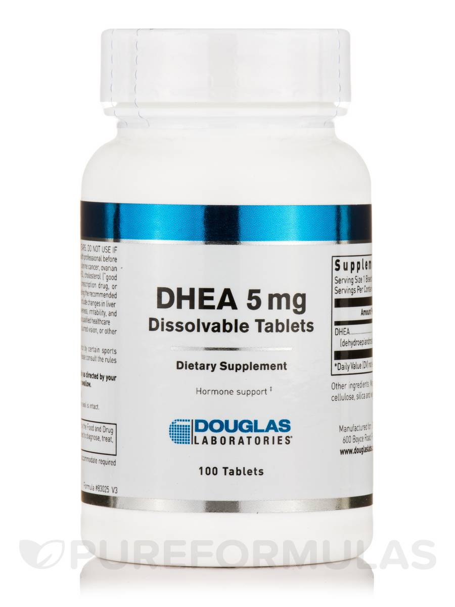 DHEA 5 mg Micronized - 100 Tablets