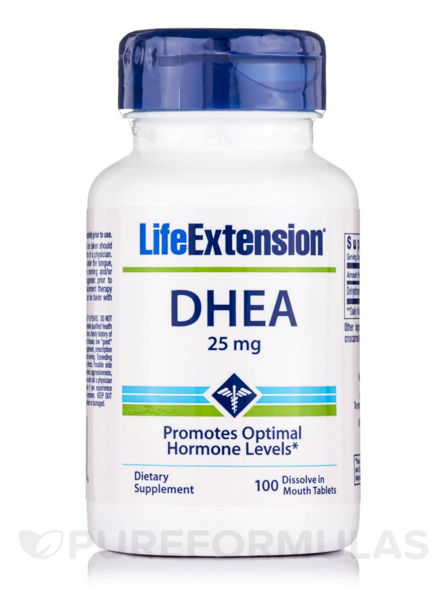 DHEA 25 mg - 100 Dissolve in Mouth Tablets