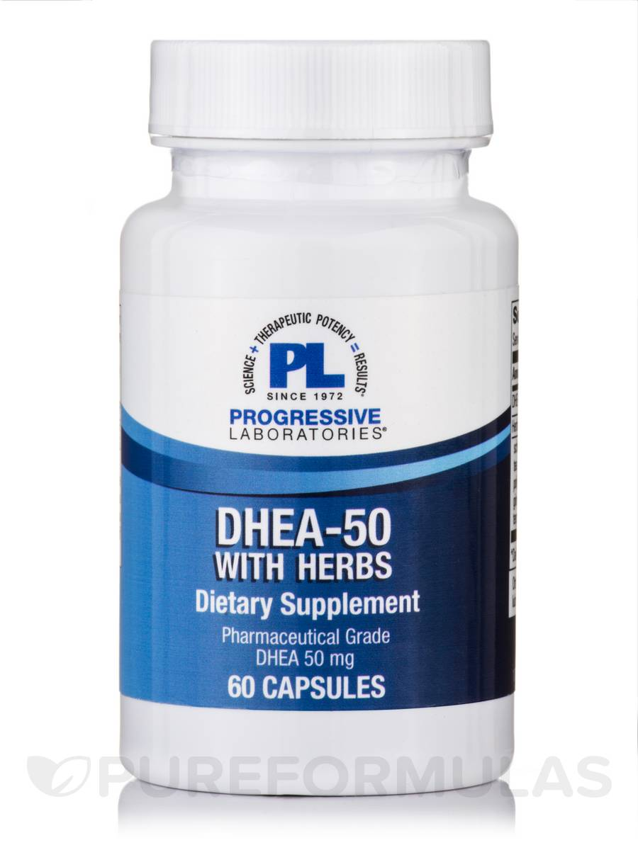 DHEA-50 with Herbs - 60 Capsules