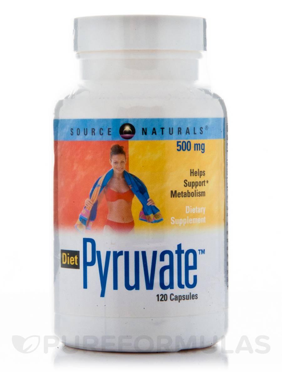 Diet Pyruvate 500 mg - 120 Capsules