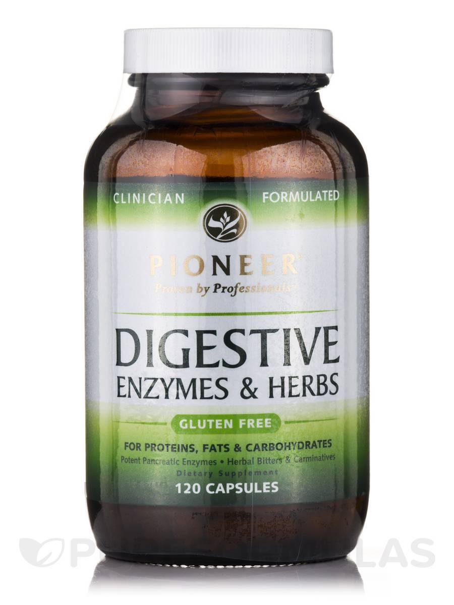 Digestive Enzymes & Herbs - 120 Capsules