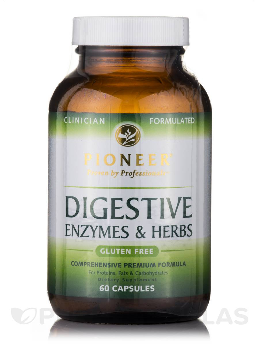Digestive Enzymes & Herbs - 60 Capsules