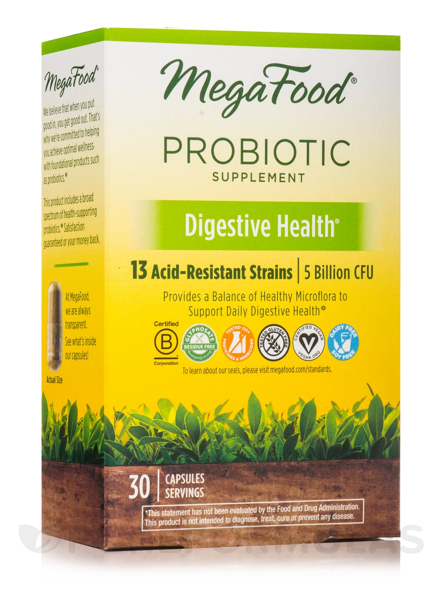 Digestive Health* Shelf-Stable Probiotics - 30 Capsules