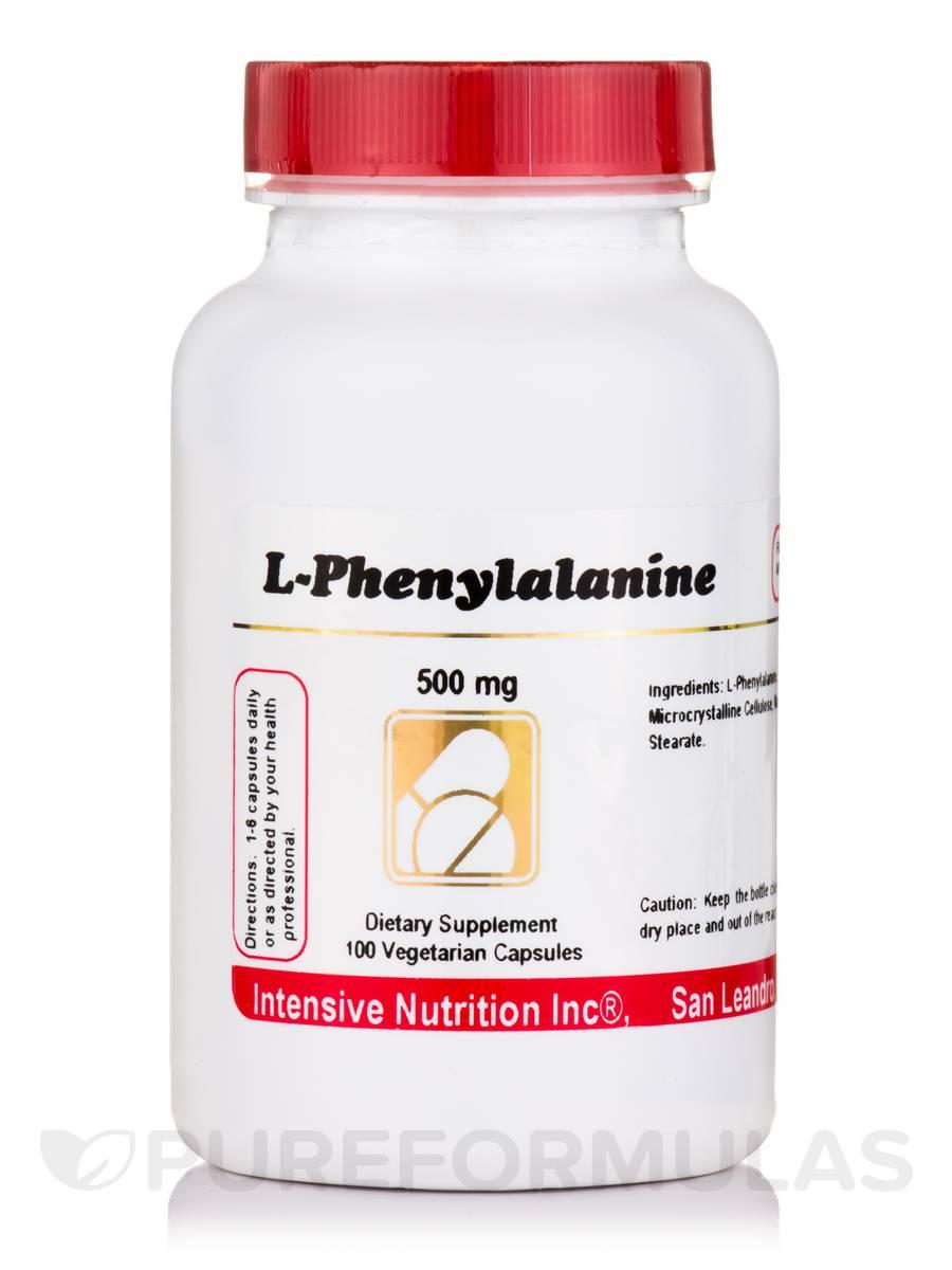 L-Phenylalanine 500 mg - 100 Vegetarian Capsules