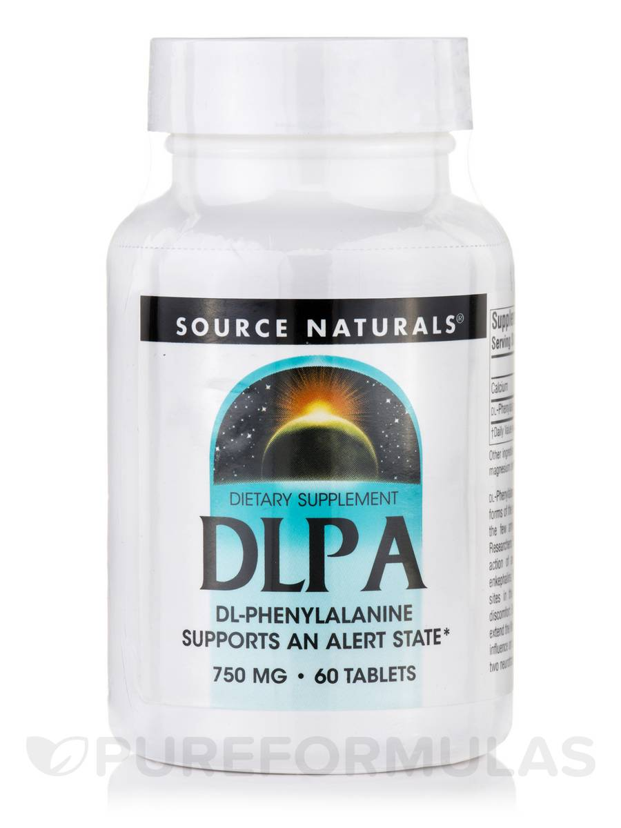 DLPA (DL-Phenylalanine) 750 mg - 60 Tablets