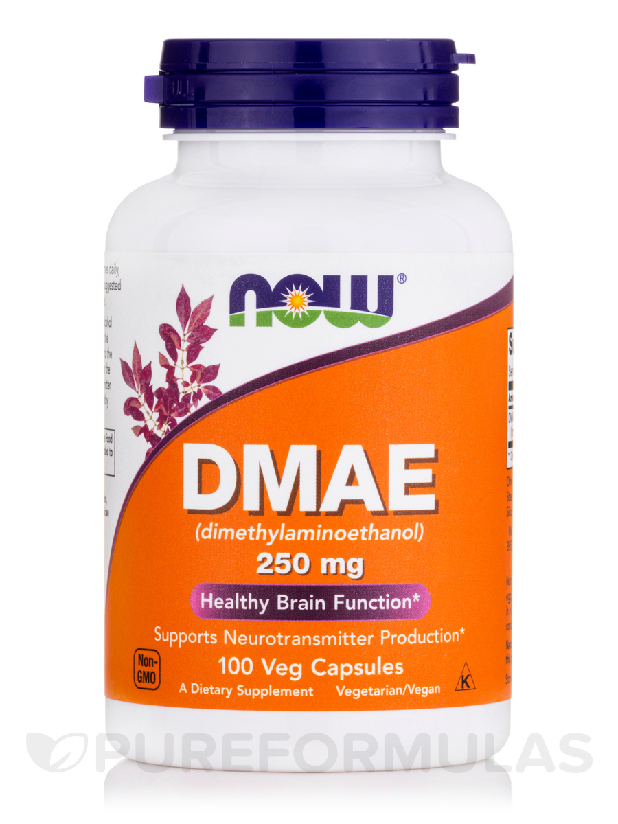 DMAE (Dimethylaminoethanol) 250 mg - 100 Veg Capsules