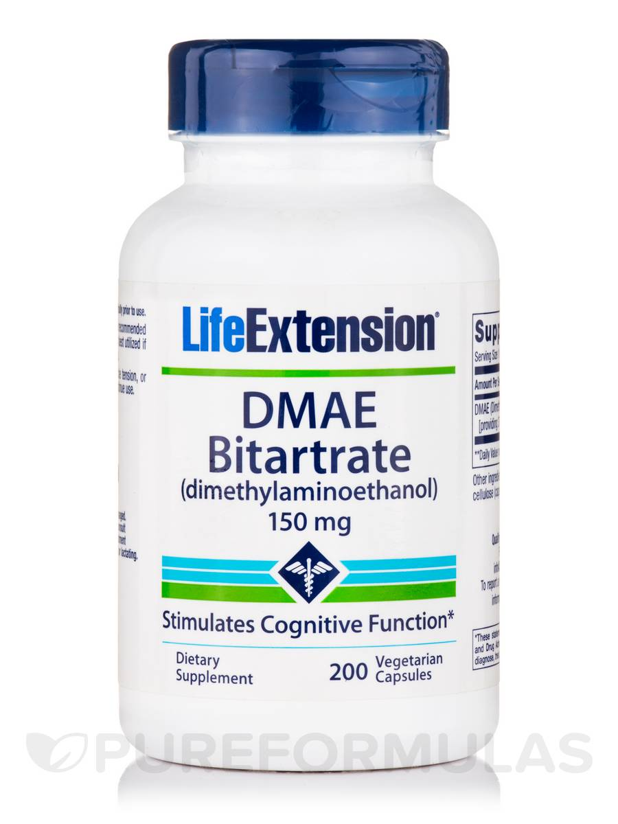DMAE Bitartrate 150 mg - 200 Capsules