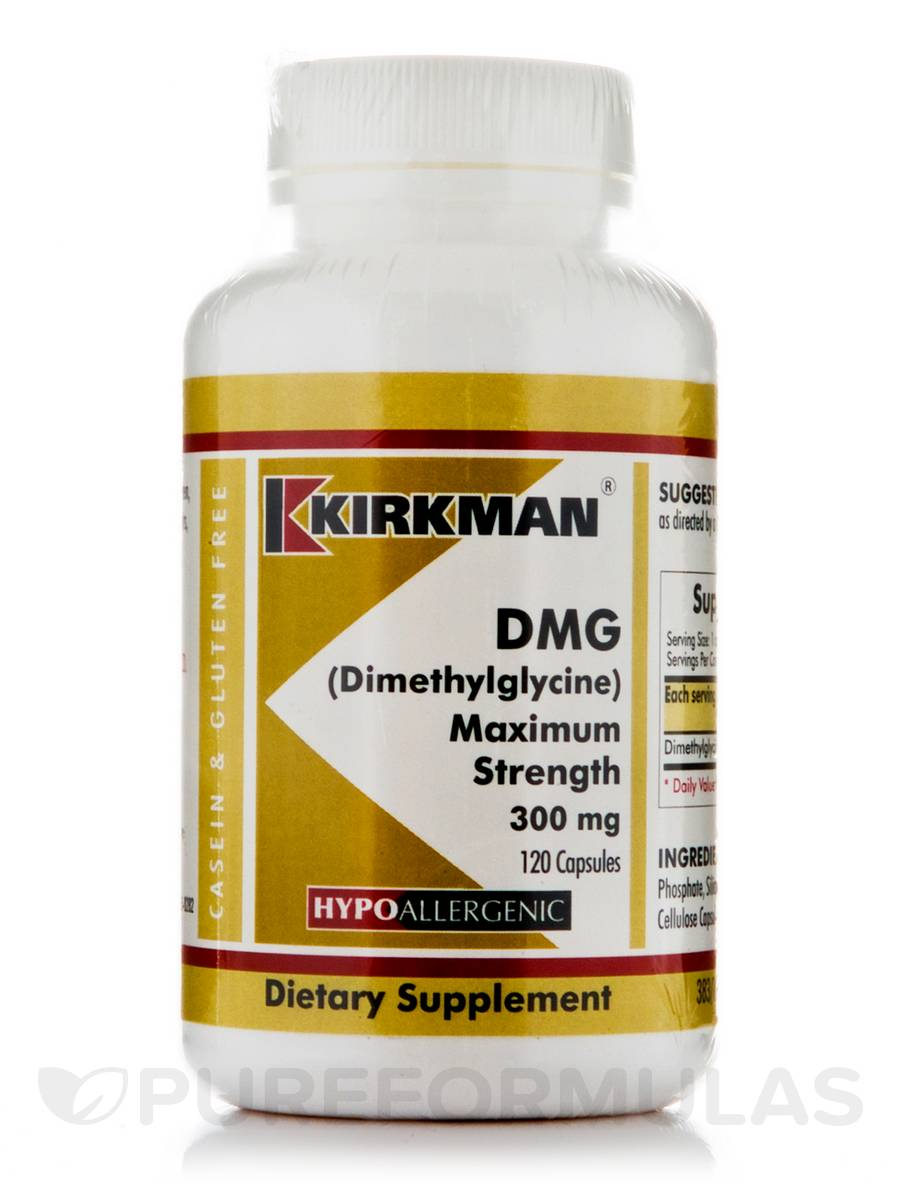 DMG Maximum Strength 300 mg -Hypoallergenic - 120 Capsules