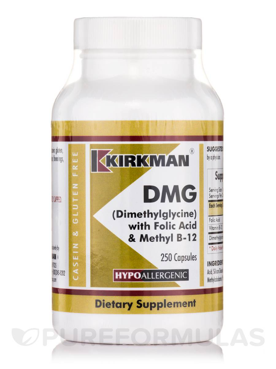 DMG with Folic Acid & B-12 -Hypoallergenic - 250 Capsules