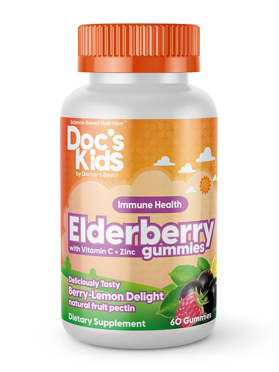 Doc's Kids® Elderberry with Vitamin C & Zinc Gummies, Berry-Lemon Flavor - 60 Gummies