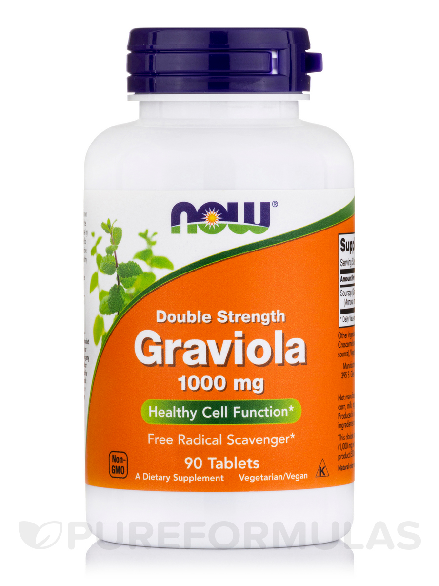 Double Strength Graviola 1000 mg - 90 Tablets