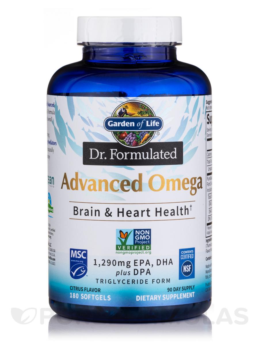 Dr. Formulated Advanced Omega, Lemon Flavor - 180 Softgels