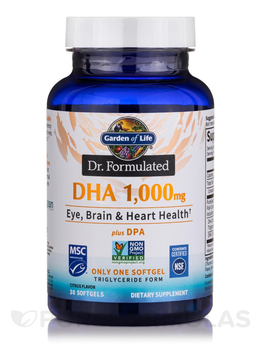 Dr. Formulated DHA 1,000 mg - 30 Softgels