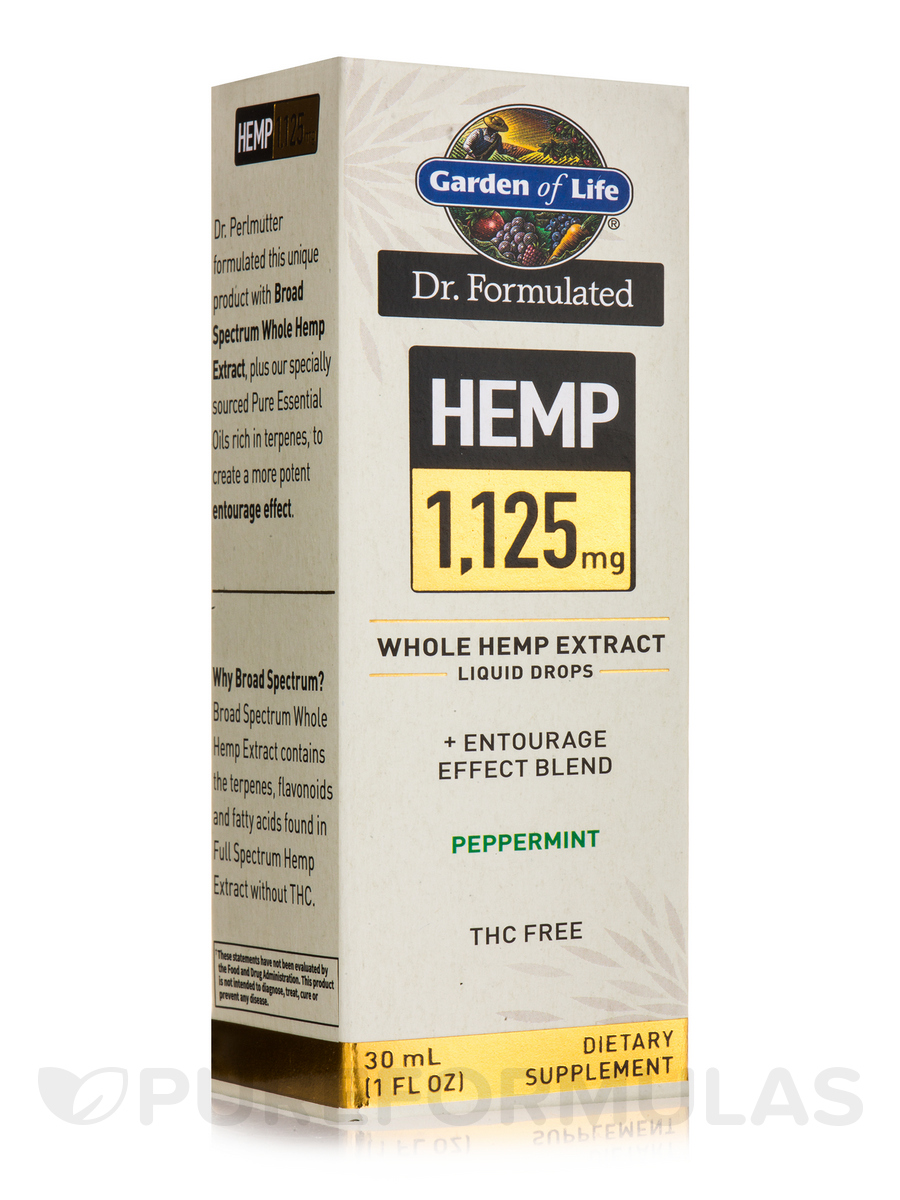 Dr. Formulated Hemp 1,125 mg Drops, Peppermint - 1 fl. oz (30 ml)