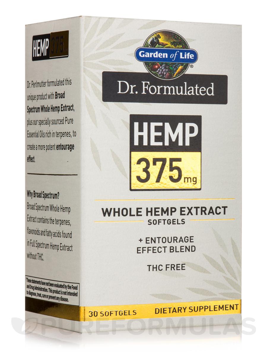 Dr. Formulated Hemp 375 mg - 30 Softgels