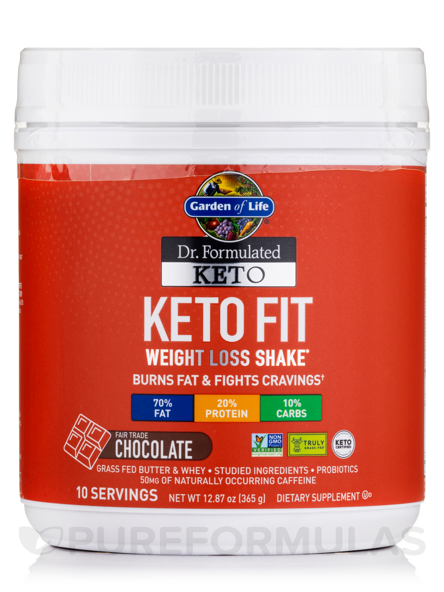 Dr. Formulated Keto Fit Chocolate Powder - 12.87 oz (365 Grams)