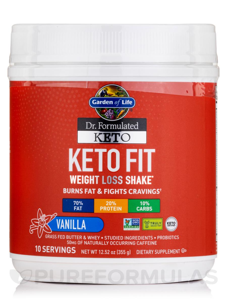 Dr. Formulated Keto Fit Vanilla Powder - 12.52 oz (355 Grams)