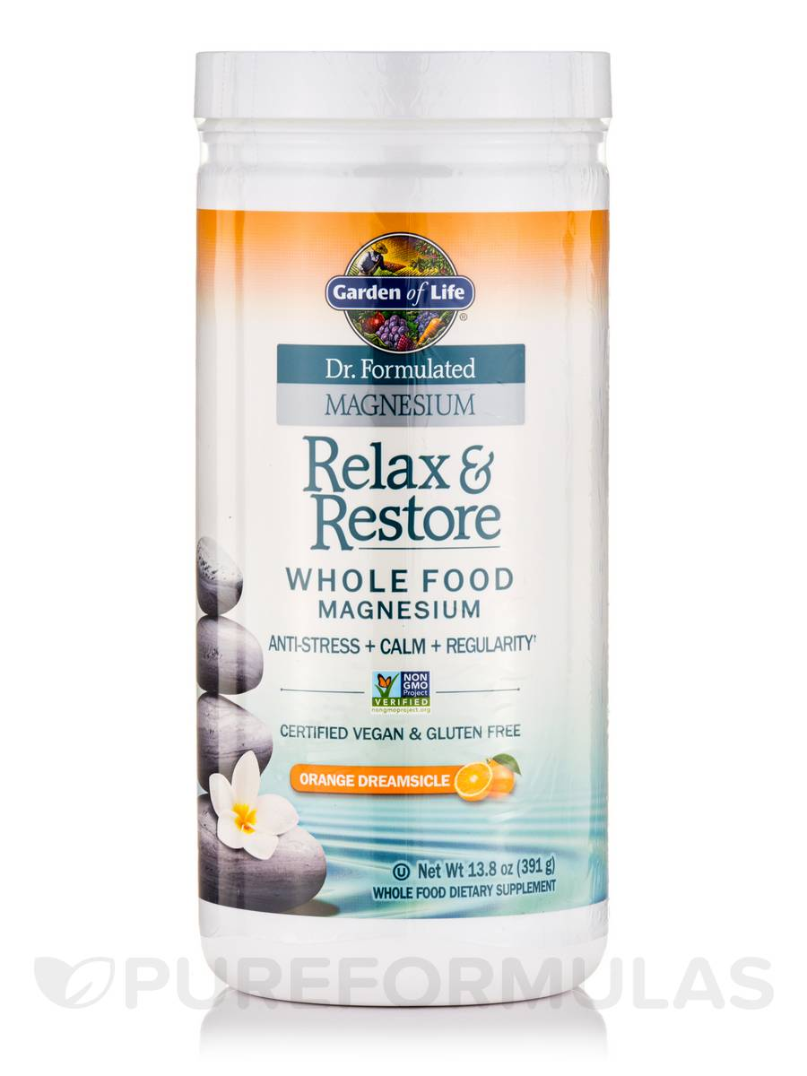 Dr Formulated Magnesium Relax Restore Orange Dreamsicle 13 8 Oz 391 Grams