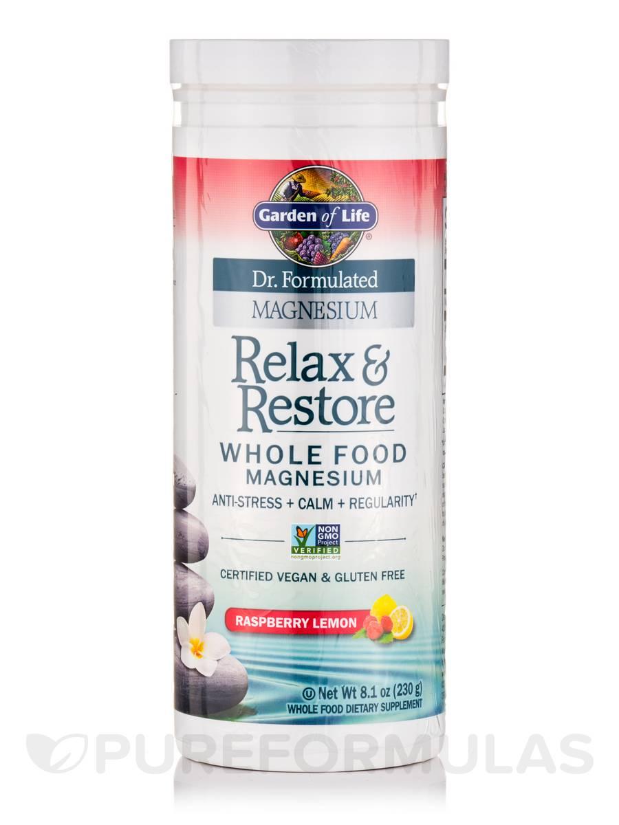 Dr Formulated Magnesium Relax Restore Raspberry Lemon 8 1 Oz 230 Grams