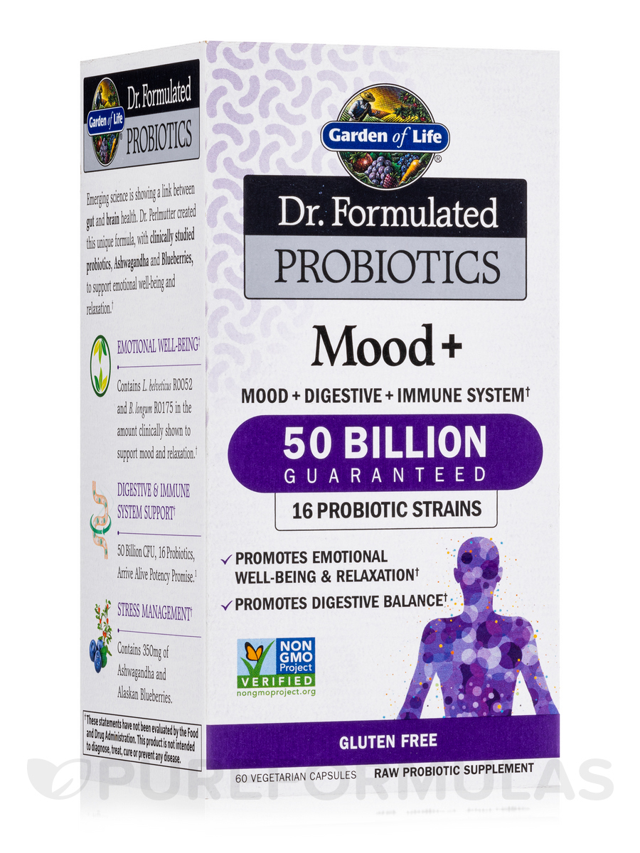 Dr. Formulated Probiotics Mood+ - 60 Vegetarian Capsules