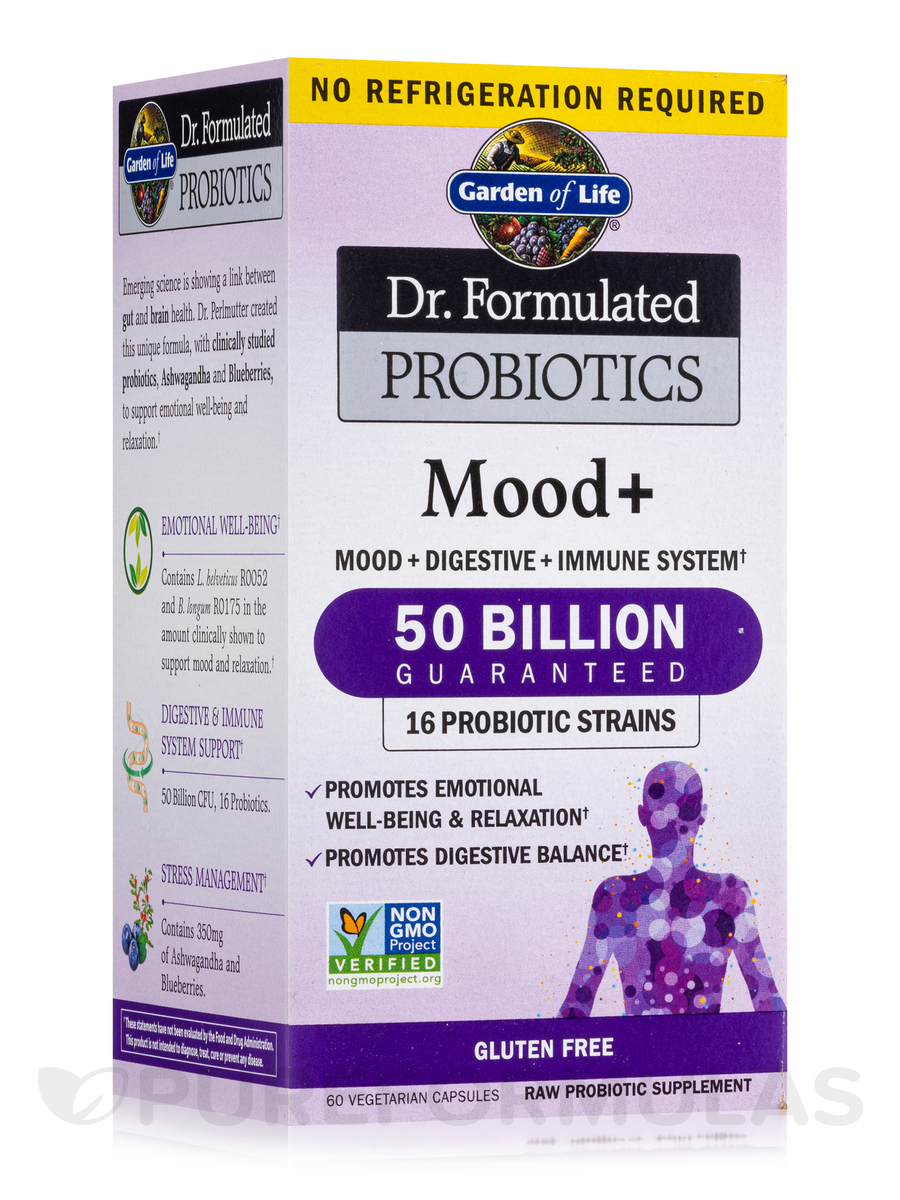 Dr. Formulated Probiotics Mood+ (Shelf Stable) - 60 Vegetarian Capsules
