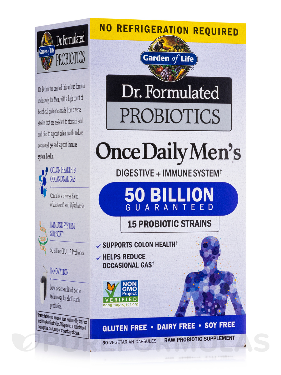 Dr. Formulated Probiotics Once Daily Men's, 50 Billion - 30 Vegetarian Capsules