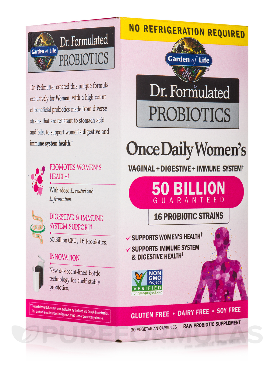 Dr Formulated Probiotics Once Daily Women 39 S 30 Vegetarian Capsules