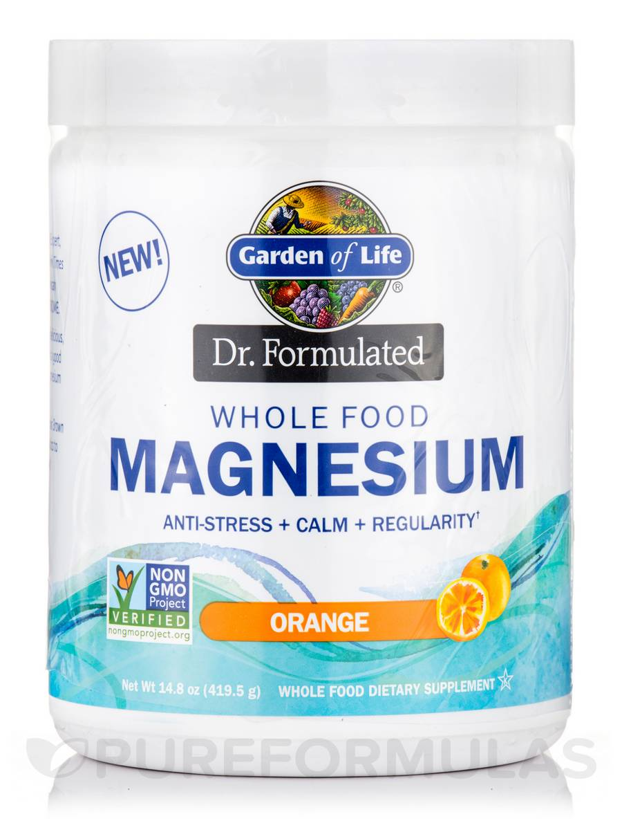 Dr. Formulated Whole Food Magnesium, Orange Flavor - 14.8 oz (419.5 Grams)
