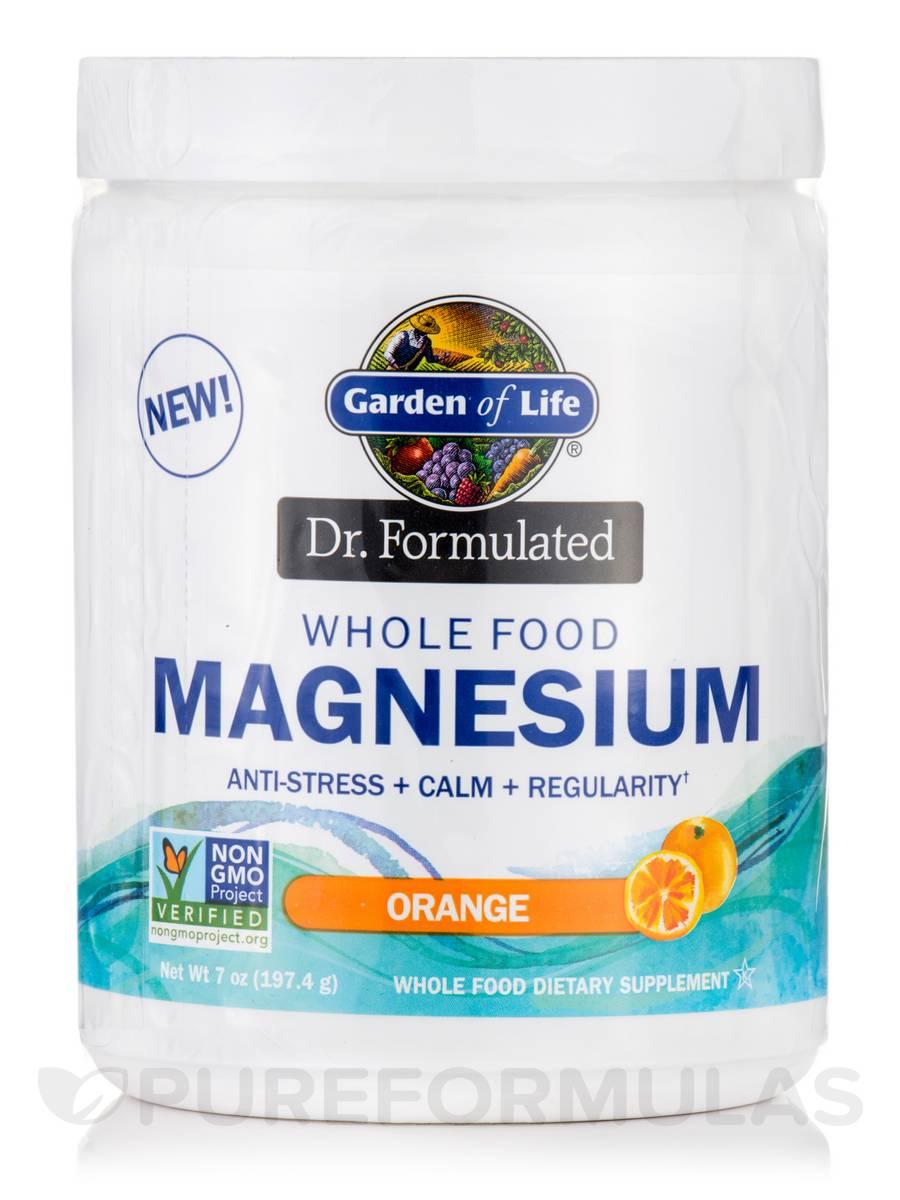 Dr. Formulated Whole Food Magnesium, Orange Flavor - 7 oz (197.4 Grams)