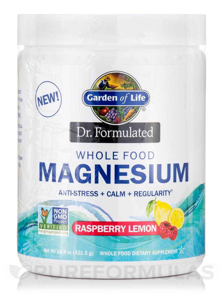 Dr. Formulated Whole Food Magnesium, Raspberry Lemon Flavor - 14.9 oz (421.5 Grams)