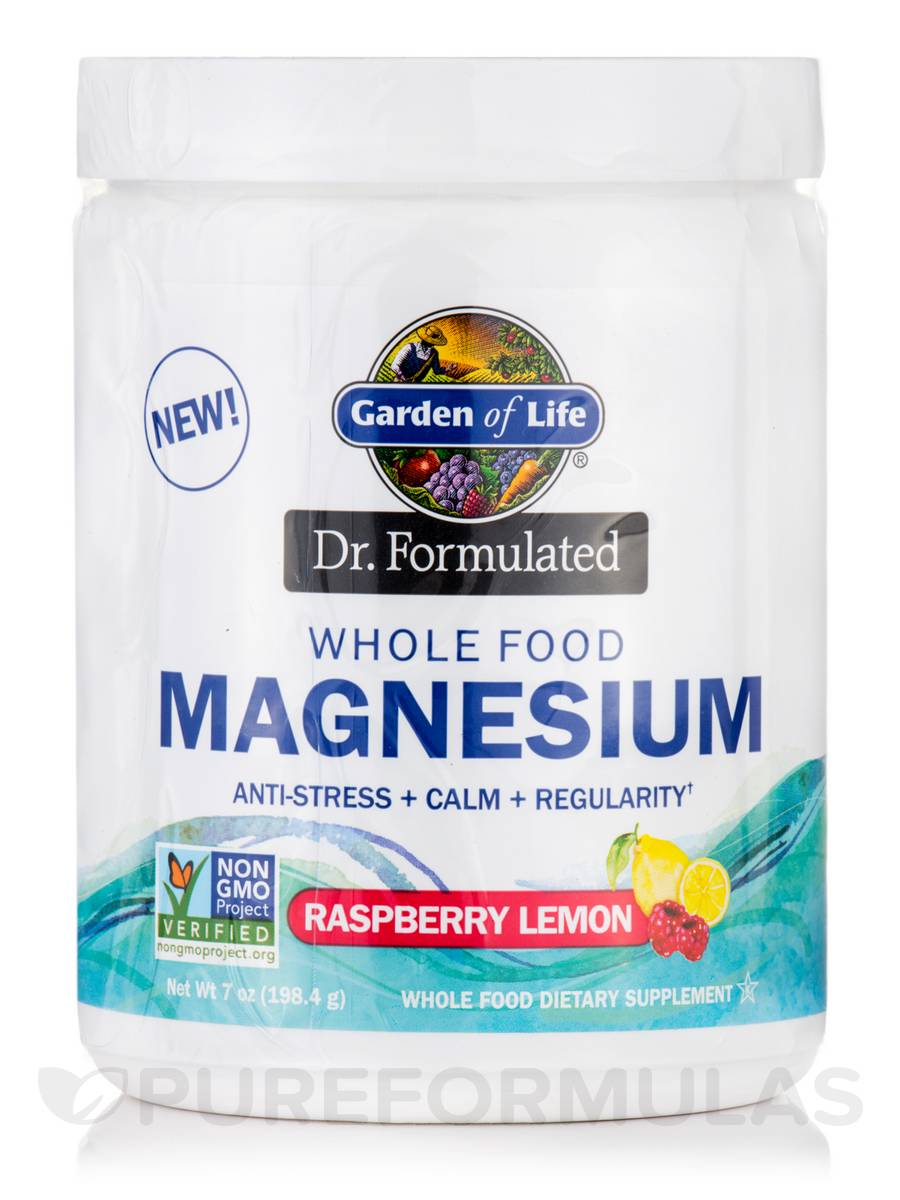 Dr. Formulated Whole Food Magnesium, Raspberry Lemon Flavor - 7 oz (198.4 Grams)