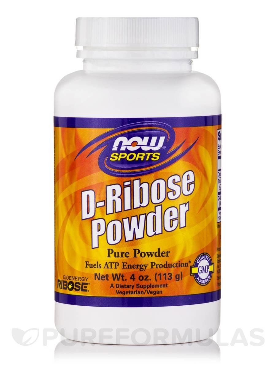 NOW® Sports - D-Ribose Powder (Pure Powder) - 4 oz (113 Grams)