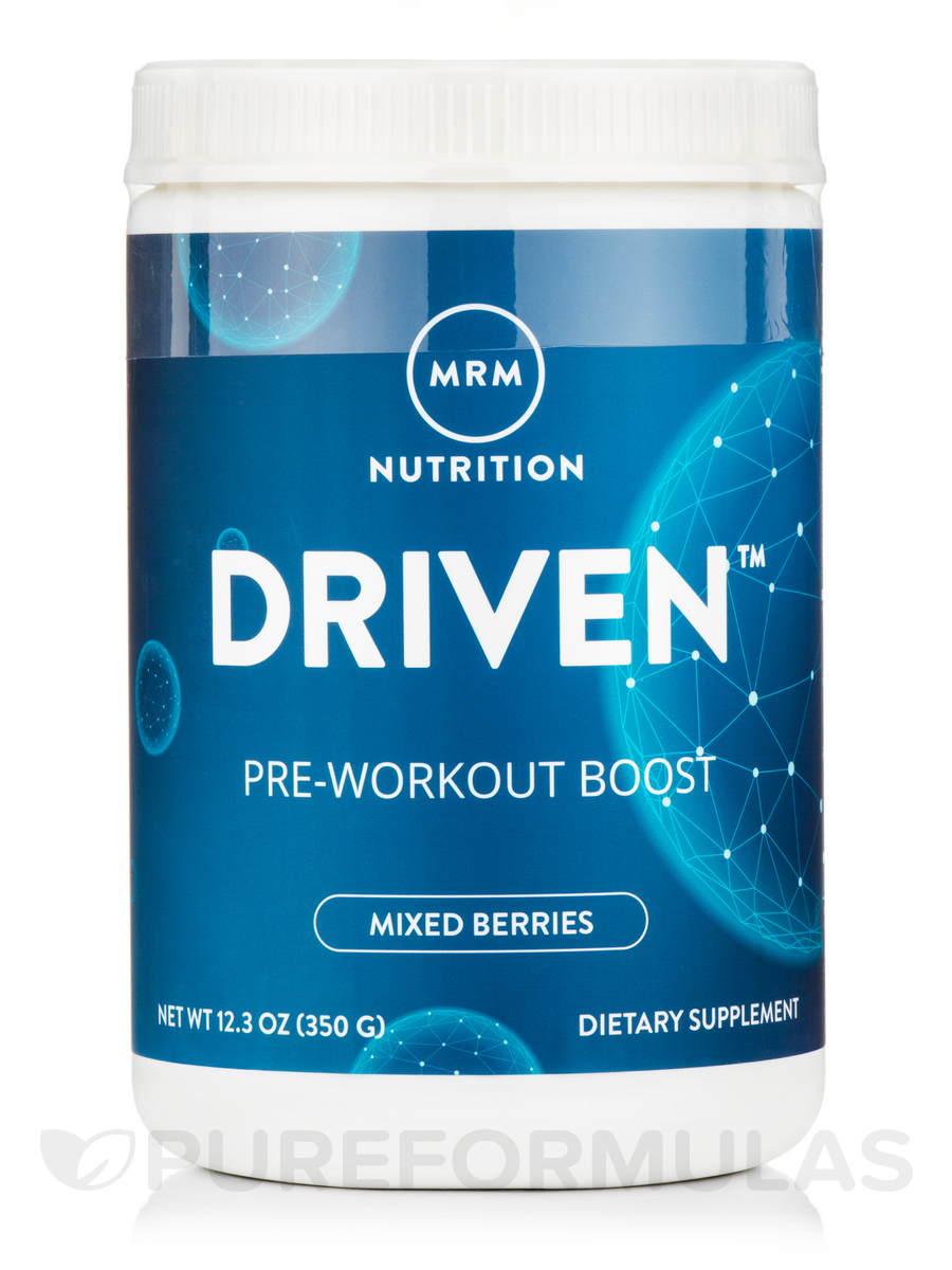 Driven™ Pre-Workout Boost Powder, Mixed Berries Flavor - 12.3 oz (350 Grams)