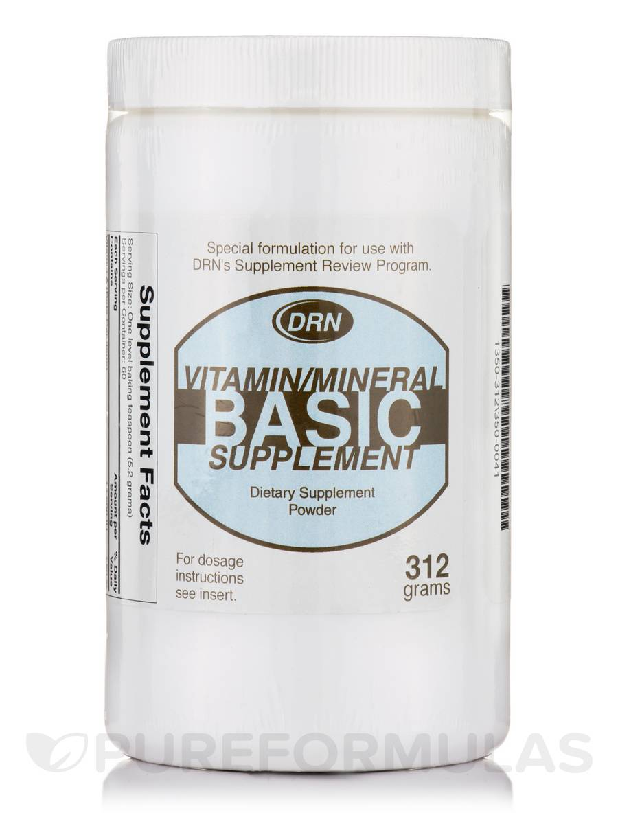 DRN Vitamin/Mineral Basic Supplement Powder - 312 Grams