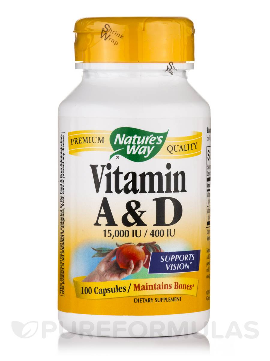 Vitamin A and D - 100 Capsules