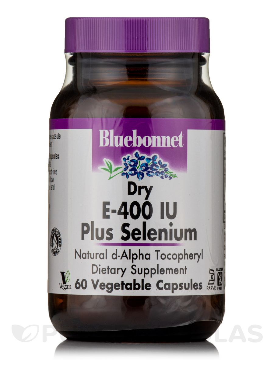 Dry E-400 IU Plus Selenium - 60 Vegetable Capsules