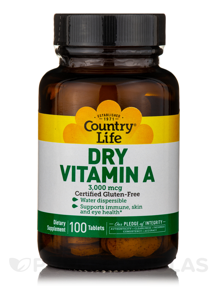 Dry Vitamin A 10000 IU - 100 Tablets