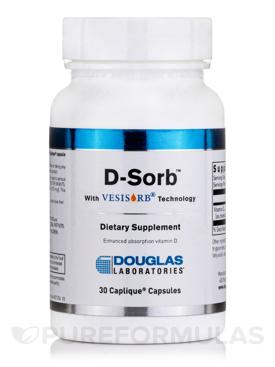 D-Sorb 12,500 IU with Vesisorb® Technology - 30 Caplique® Capsules