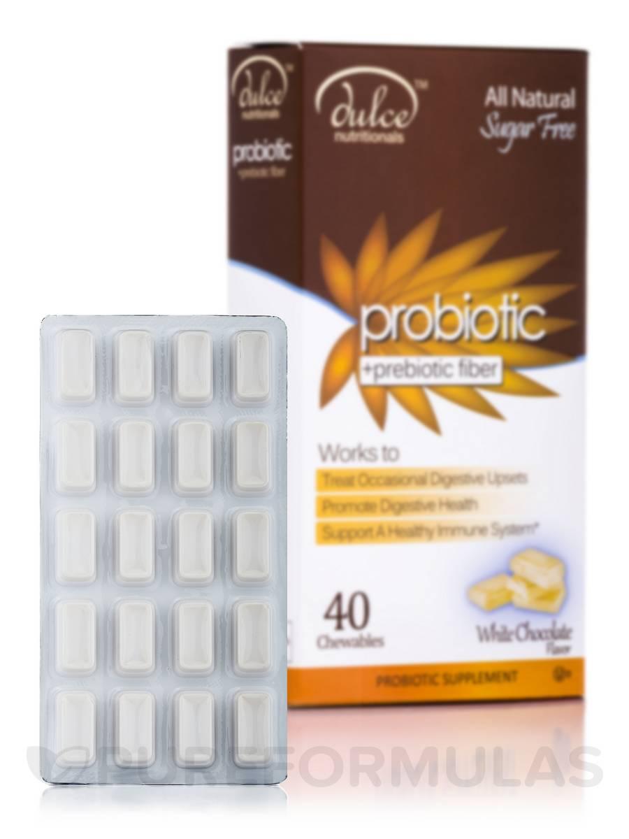 Dulce™ Nutritionals Probiotic + Prebiotic Fiber, White Chocolate Flavor - 40 Chewables