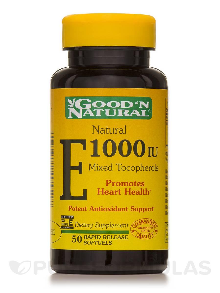Natural E-1000 I.U. (Mixed Tocopherols) - 50 Softgels