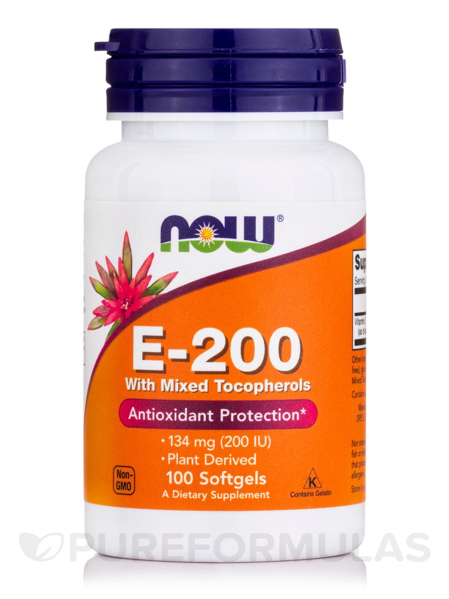 E-200 (Mixed Tocopherols) - 100 Softgels